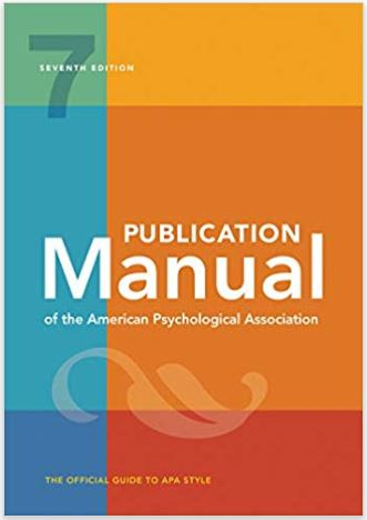 Picture of APA 7th Edition Manual