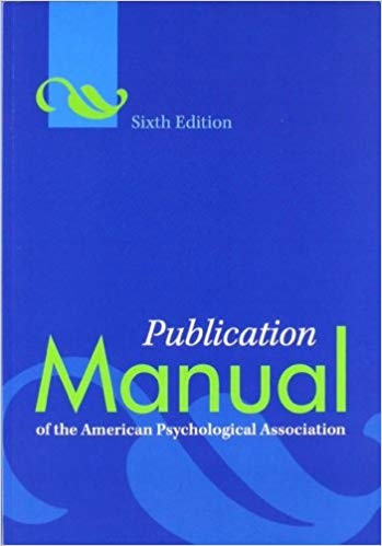 Cover of APA Manual 6th edition