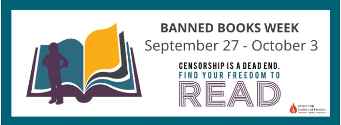 Graphic of Banned Book Week from ALA