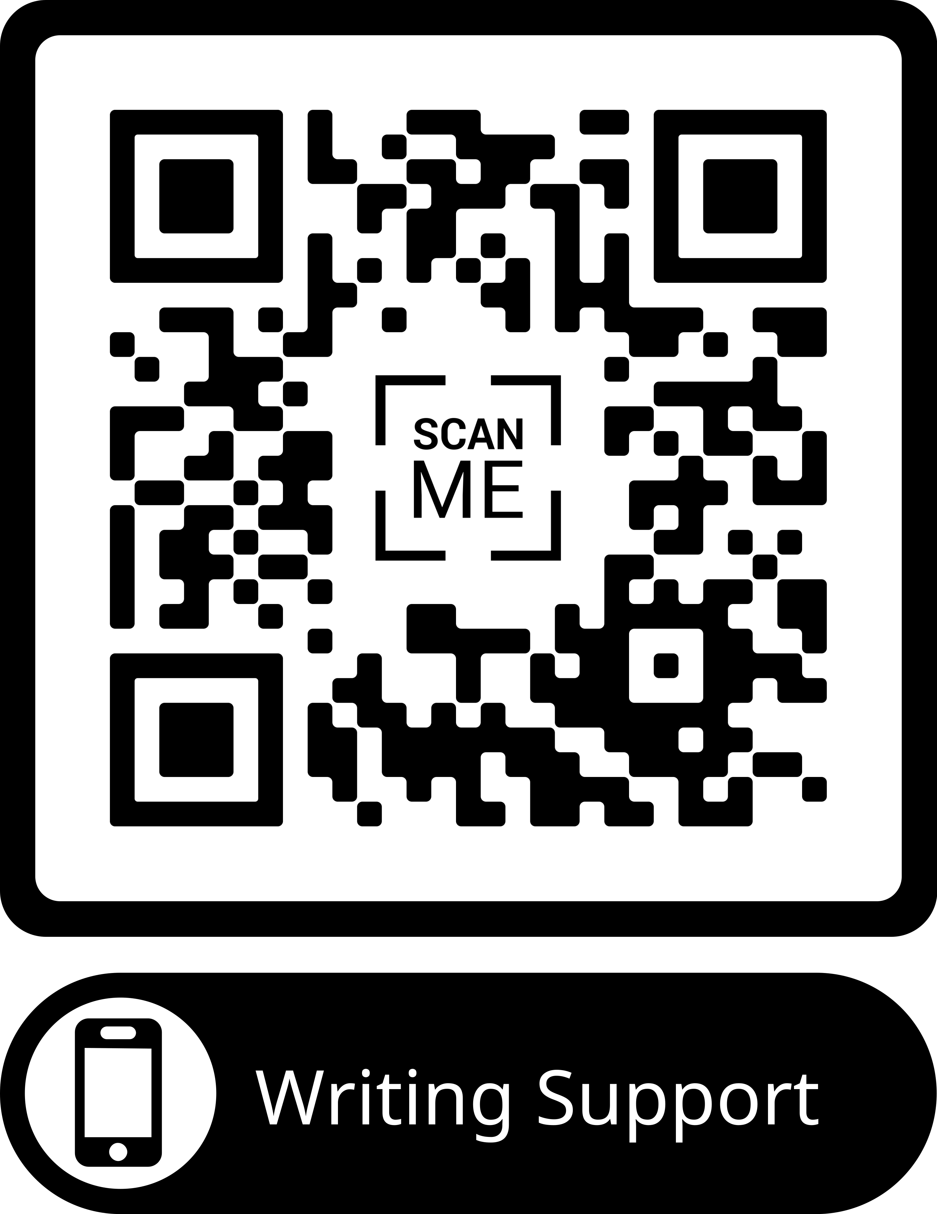 QR Code for Writing Support
