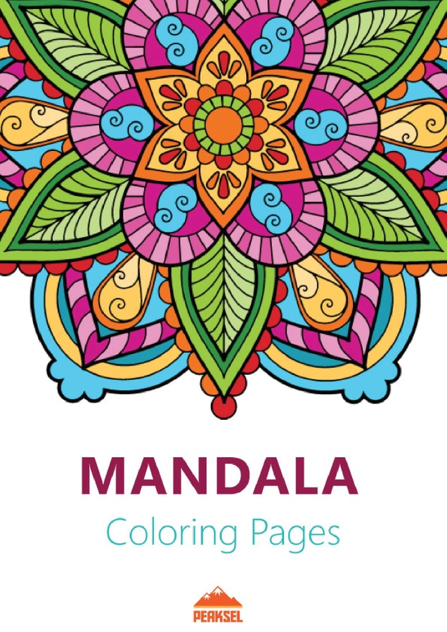 mandala coloring pages book cover
