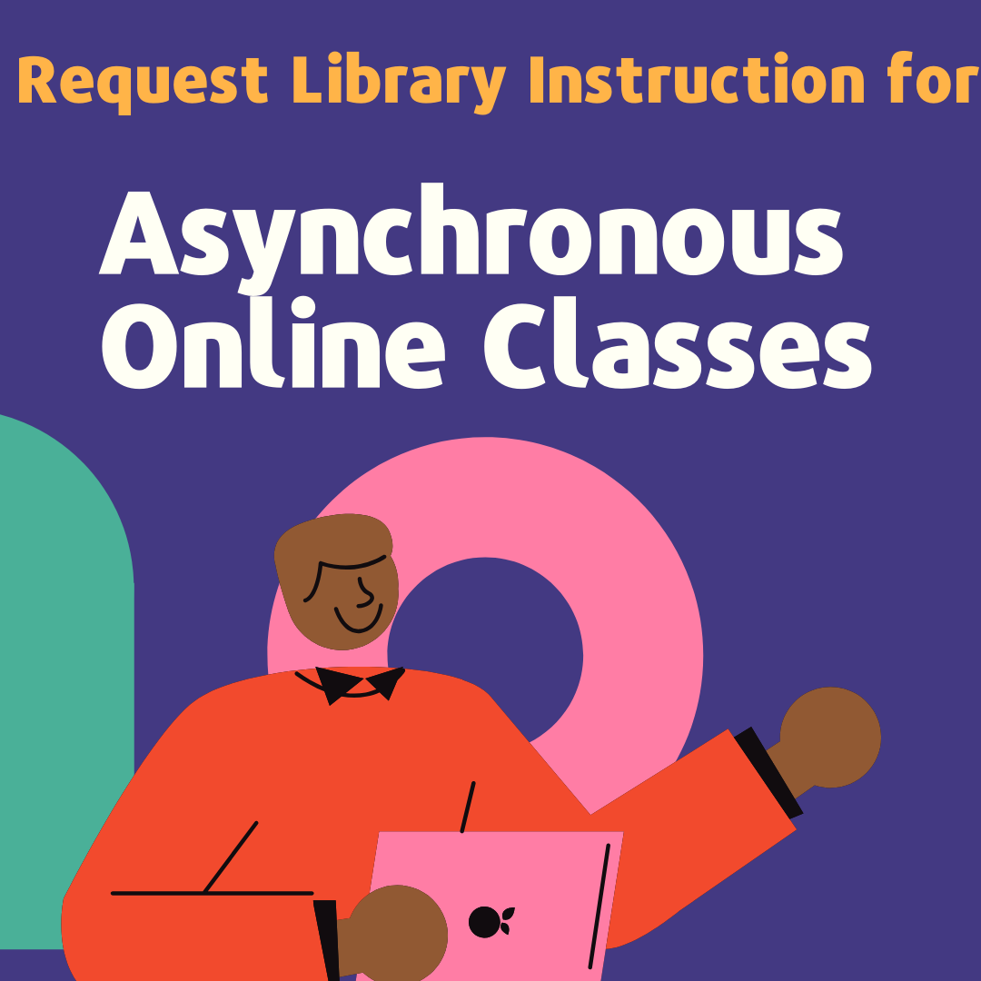 image reads request library instruction for asynchronous online classes