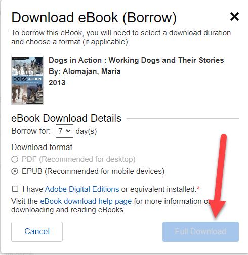 finish installing Adobe Digital Editions.