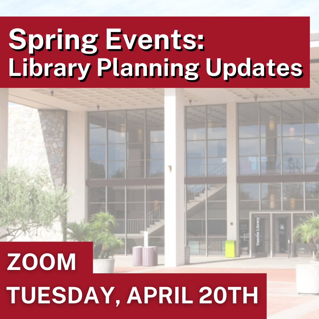 library planning spring events