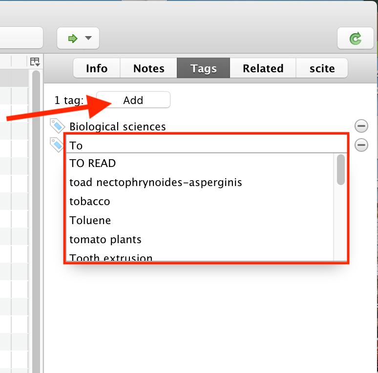 Add tag visual example