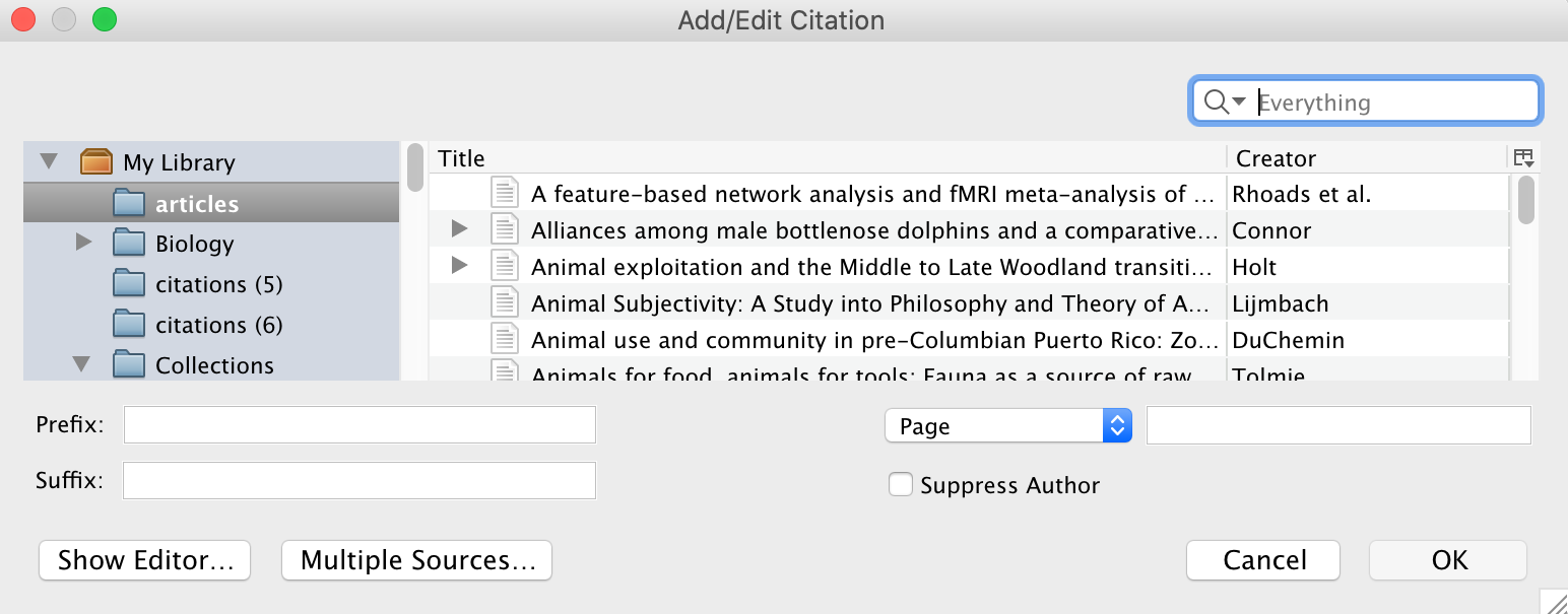 Classic add citation visual example