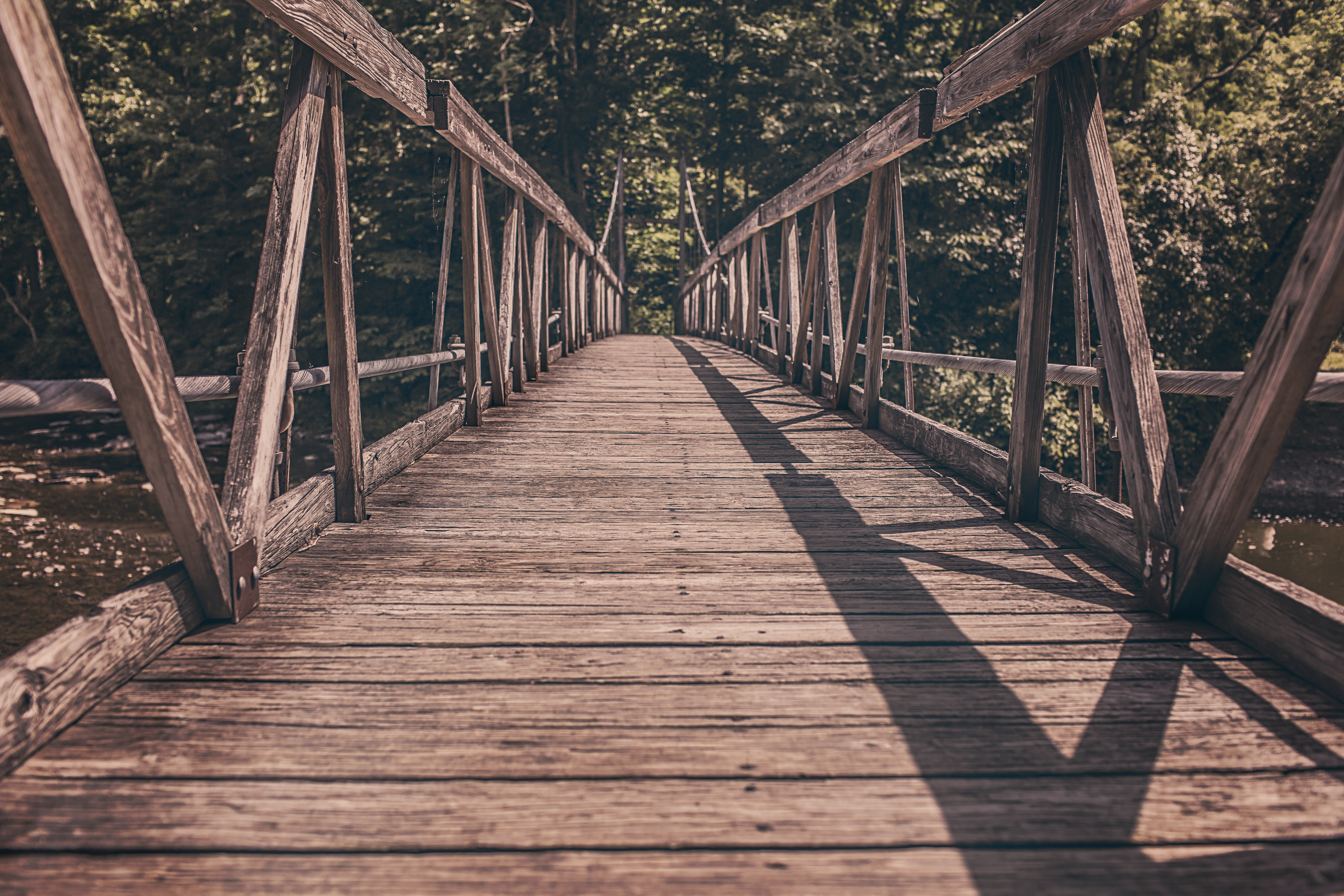 image of a wooden bridge