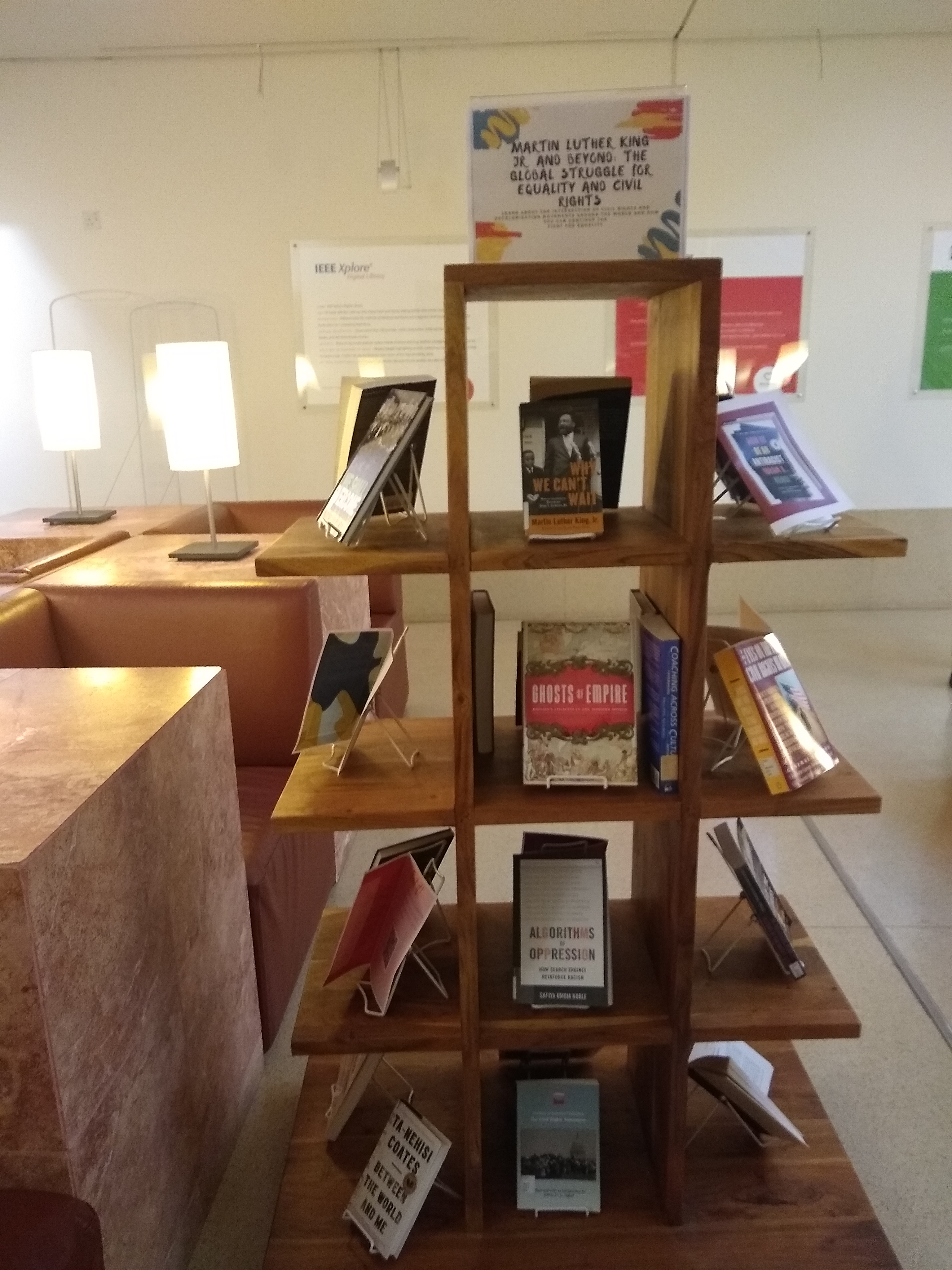Book display currently at CMU-Q library