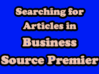 Searching for articles in Business Source Premier [title card]