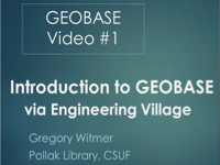An Introduction to GEOBASE [title card]