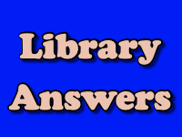 Library Answers [title card]