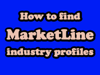 How to find Marketline industry profiles [title card]