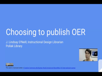 Choosing to Publish OER [title card]