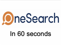 OneSearch in One Minute [title card]