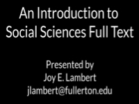 An Introduction to Social Science Full Text [title card]