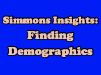 Simmons Insights: Finding Demographics [title card]