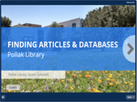 Spark tutorial: Finding Articles & Databases [title card]