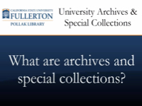 What are archives and special collections? [title card]