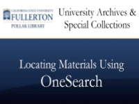 Locating Materials in OneSearch [title card]