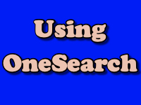 Using OneSearch [title card[