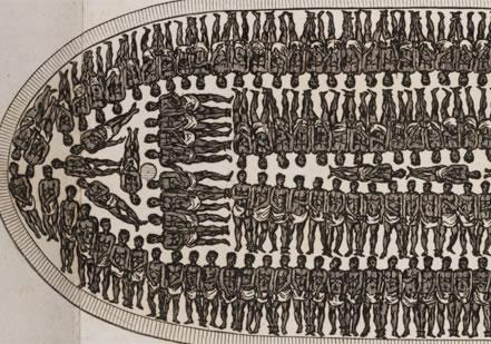 Diagram of slave ship