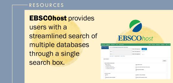 Ebscohost Database promo image