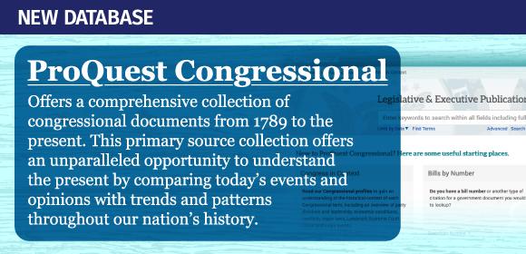 ProQuest Congressional Database promo image
