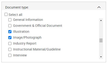 ProQuest Central Advanced Search by document type