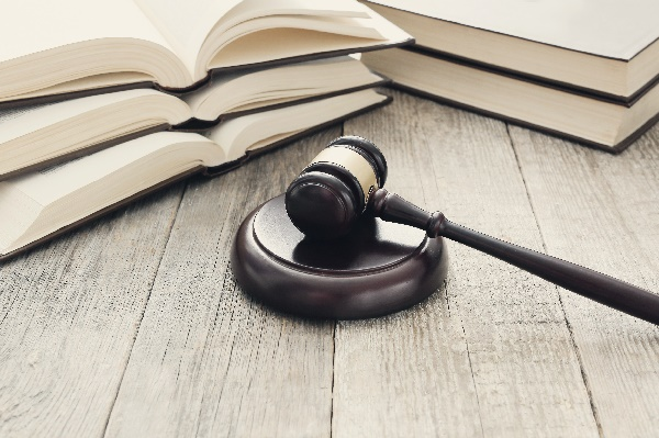 Picture of books and court gavel