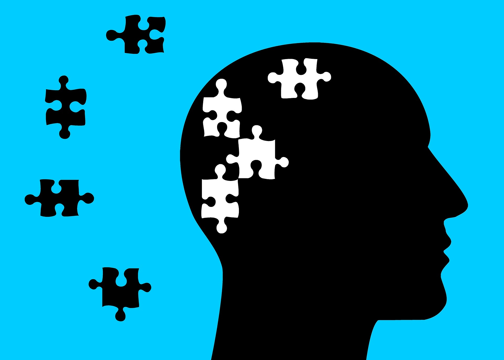 Image of a Head with missing puzzle pieces