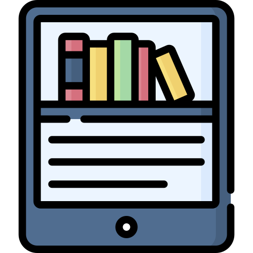 books on a screen icon