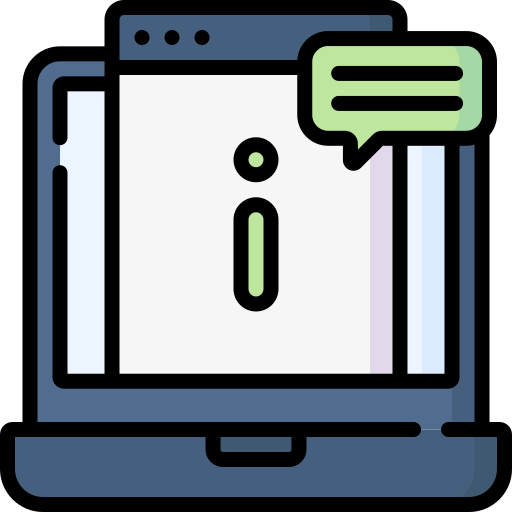 computer with information icon