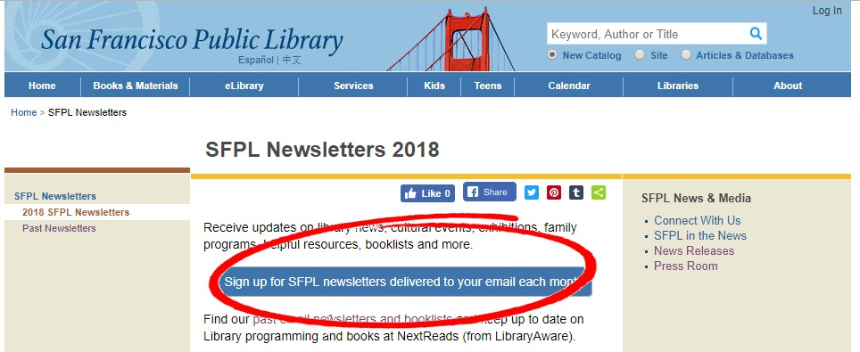 Sign up for SFPL newsletters