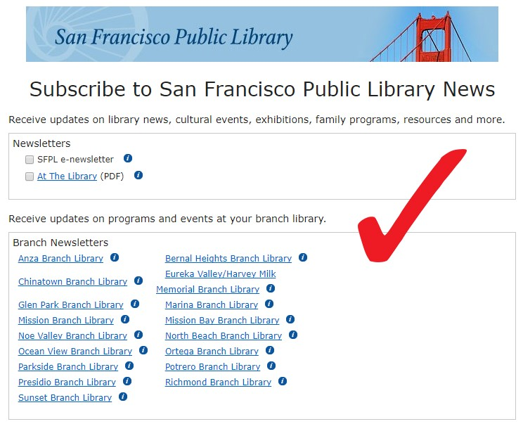 Subscribe to San Francisco Public Library News