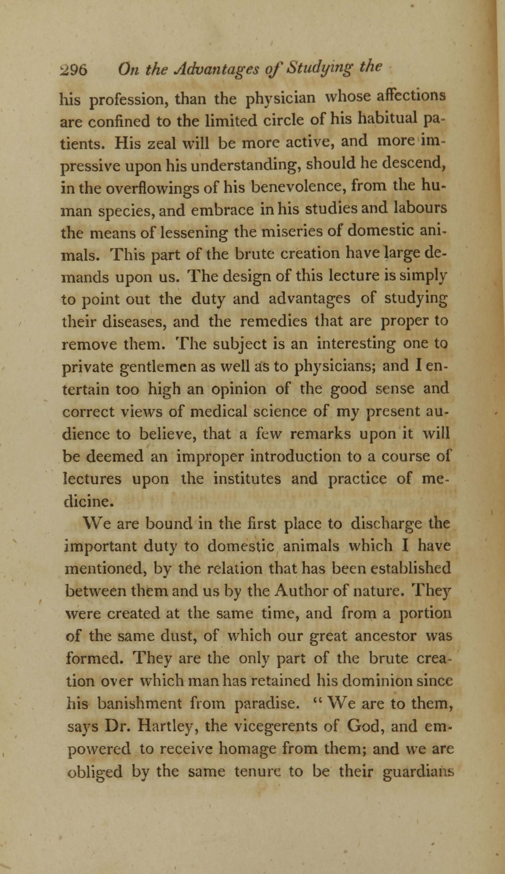 On the Duty and Advantages of Studying the Diseases of Domestic Animals (page 2)