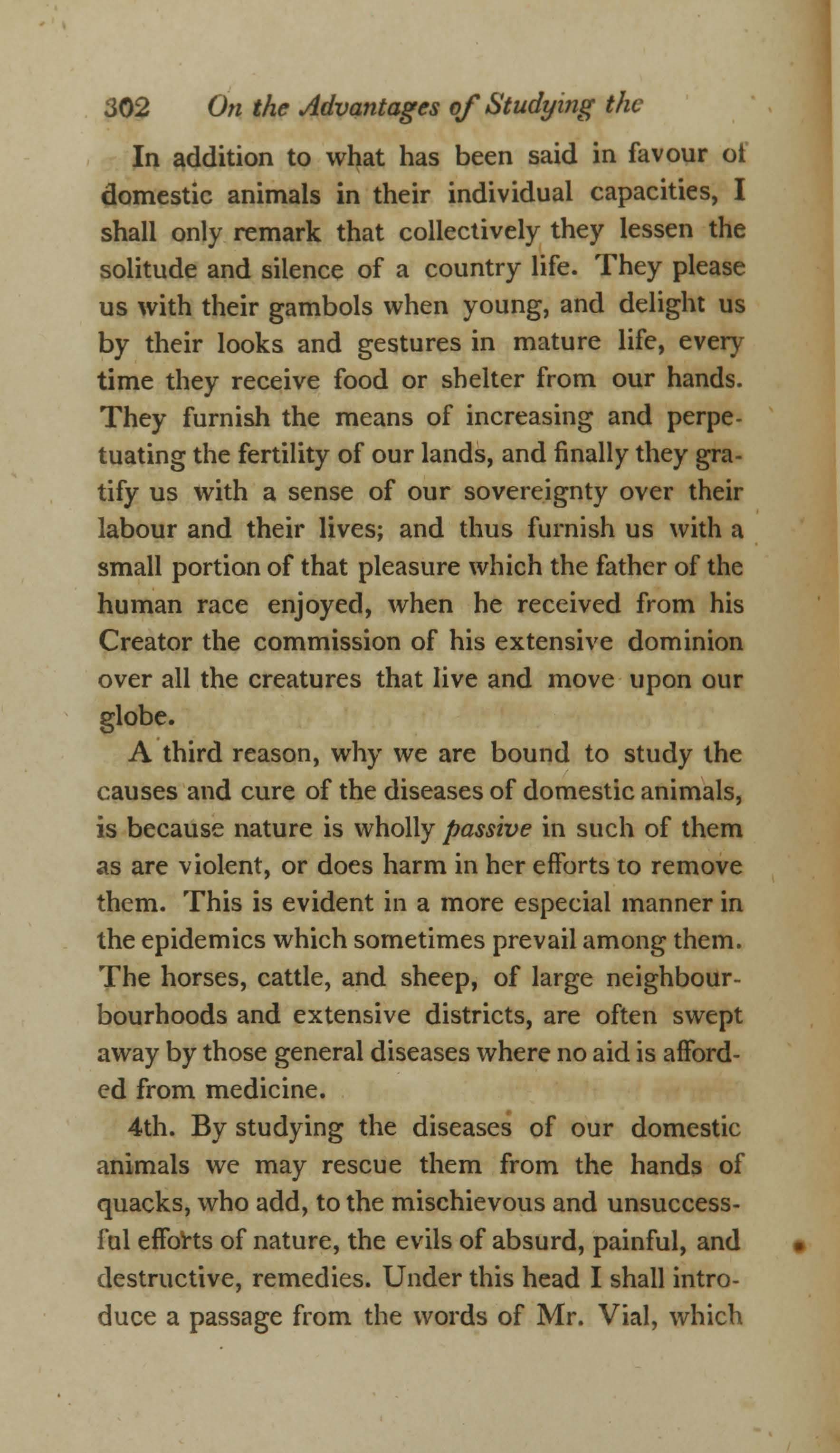 On the Duty and Advantages of Studying the Diseases of Domestic Animals (page 8)