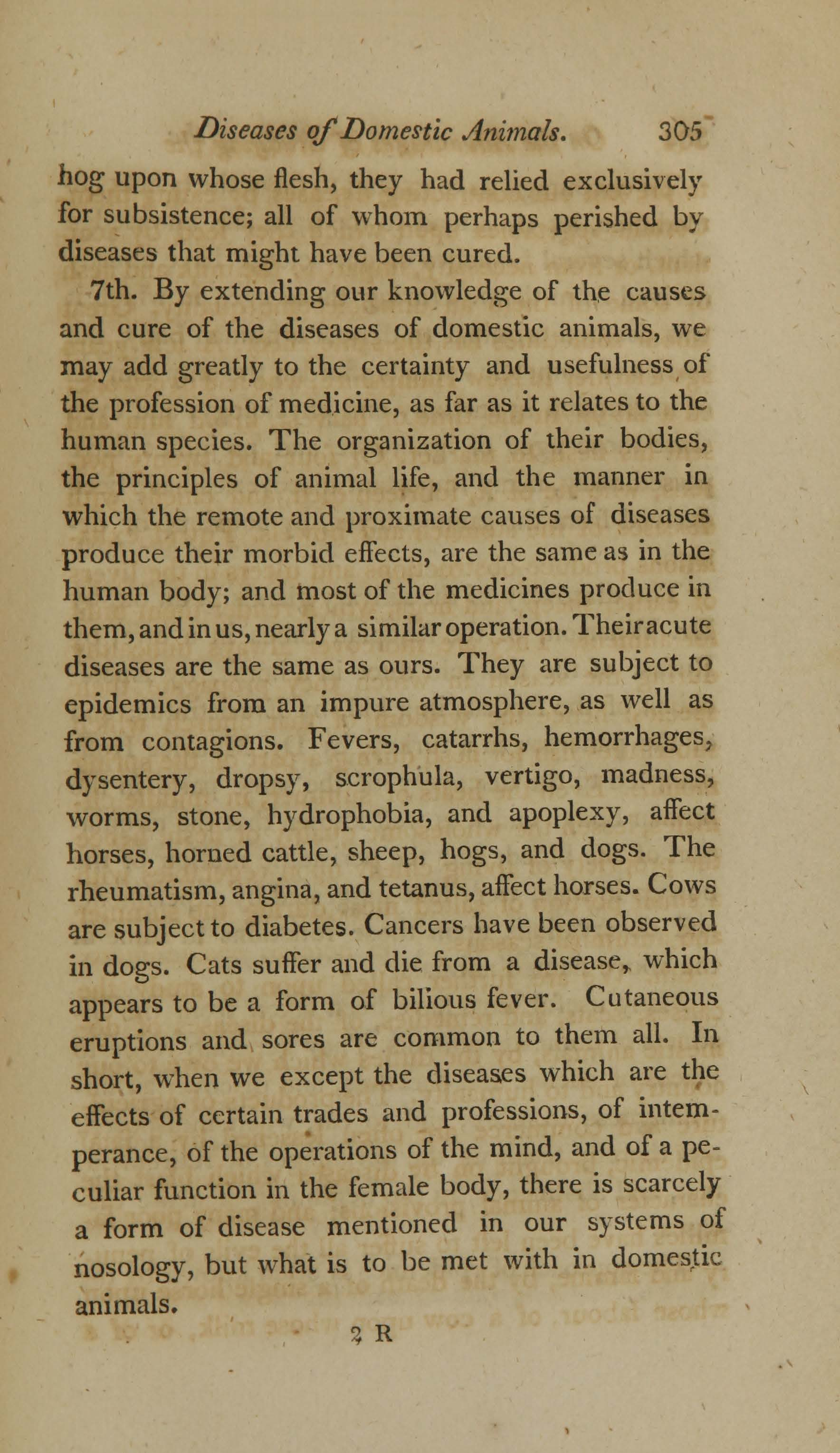 On the Duty and Advantages of Studying the Diseases of Domestic Animals (page 11)