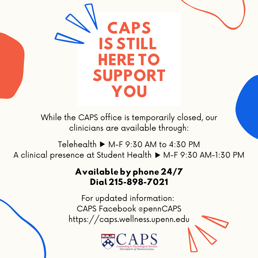 CAPS is Still Here for you!