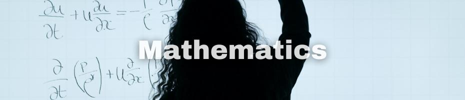 A silhouette of a person writing math formulas