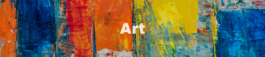 A colorful work of abstract art