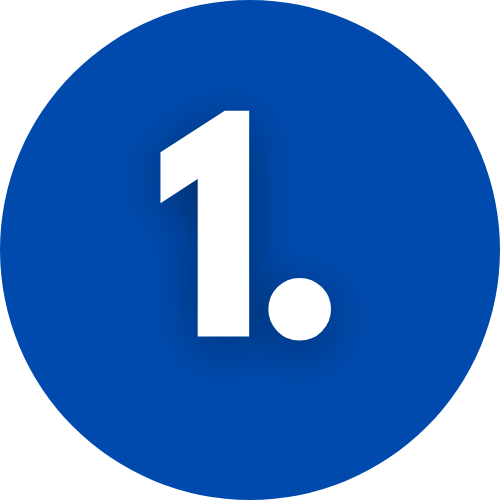 Image of a blue circle with the number 1