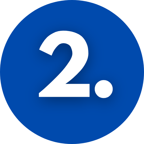 Image of a blue circle with the number 2 inside
