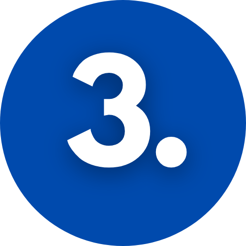 image of blue circle with number 3