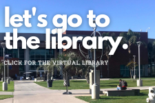 Image of the OCC Library.  Reads let's go to the library. Click for the virtual library