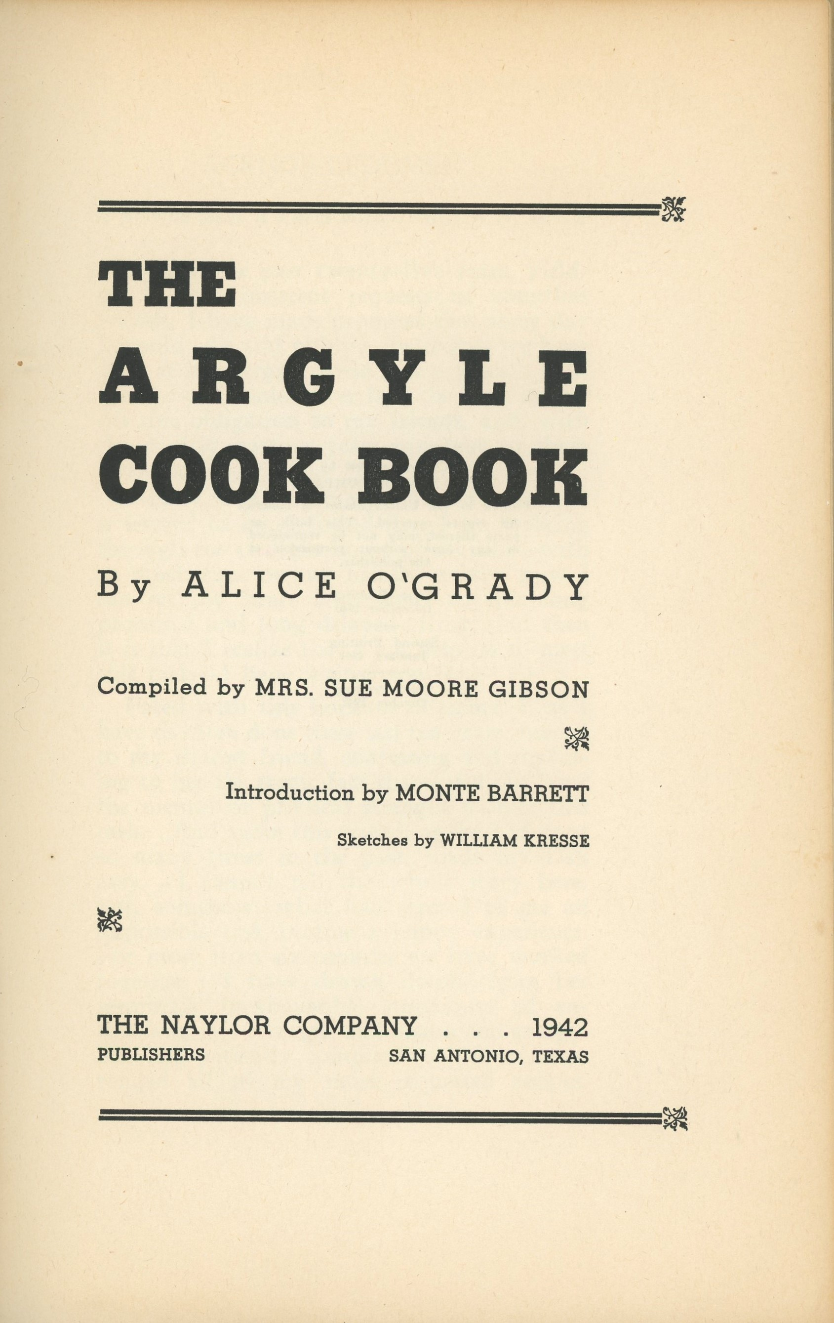Cover for The Argyle cook book