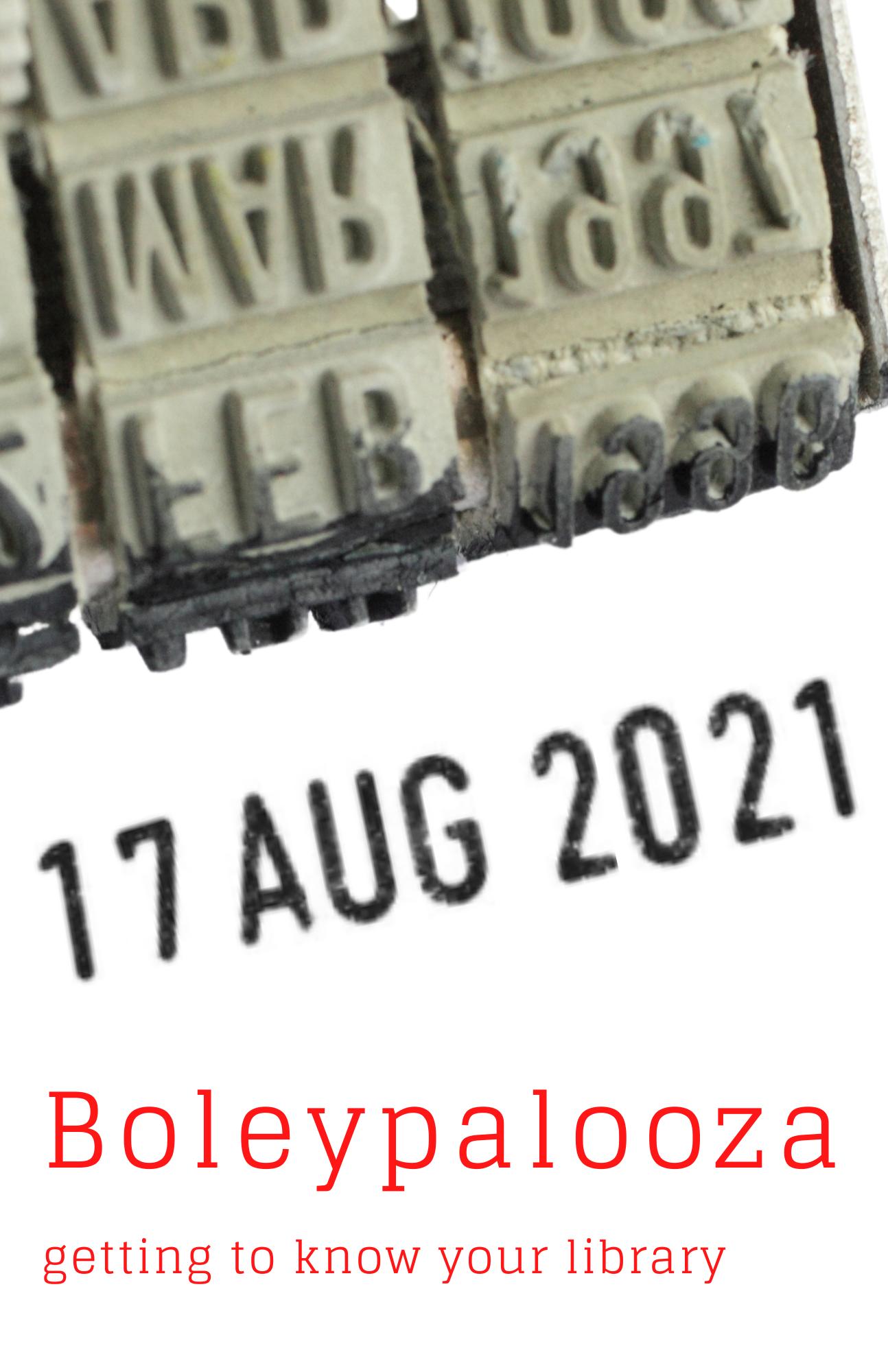 date stamp with 8/18/2021 Boleypalooza