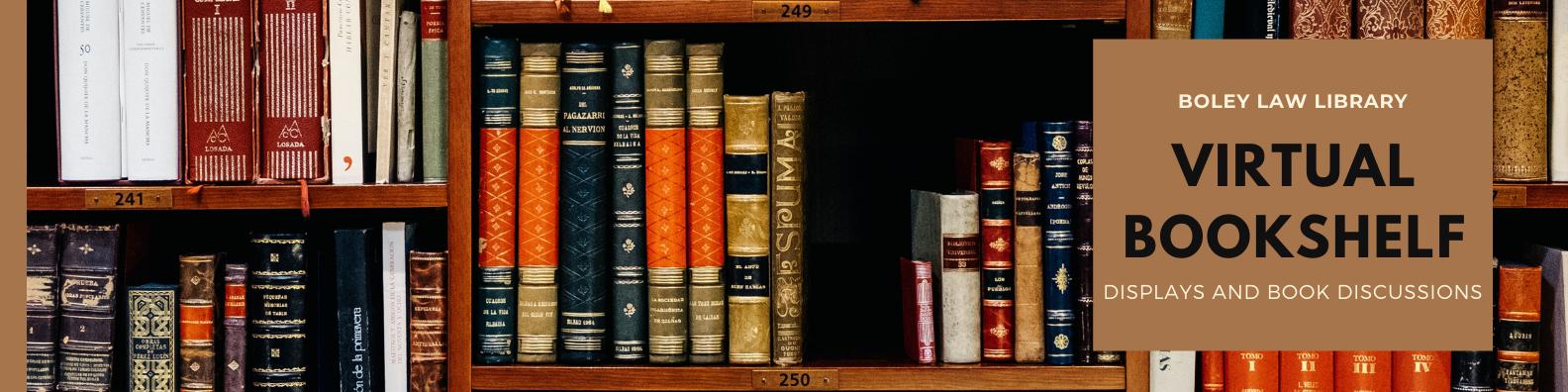 Banner for Virtual Bookshelf- multi colored books on book shelf