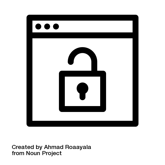 Unlock by Ahmad Roaayala from the Noun Project