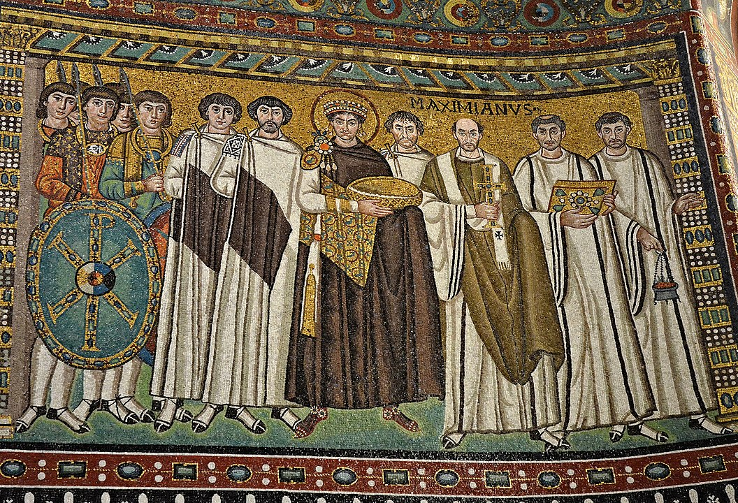 Image of a Tapestry of Emperor Justinian and his retinue