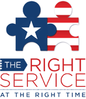 The Right Service at the Right Time Logo